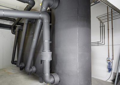 Kaltwasserpufferspeicher (7 °C, 3750 L pro Einheit)